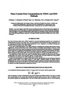 Plane Couette Flow Computations by TRMC and