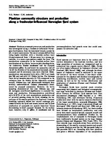 Plankton community structure and production along a ... - Springer Link