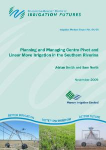 Planning and Managing Centre Pivot and Linear ... - Irrigation Australia