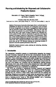 Planning and Scheduling for Dispersed and ... - Springer Link