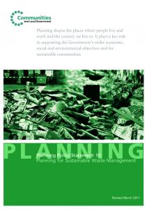 Planning Policy Statement 10: Planning for Sustainable Waste ...