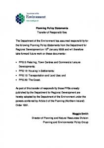 Planning Policy Statement 12 Housing in Settlements