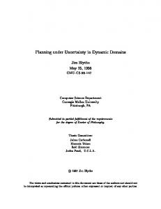 Planning under Uncertainty in Dynamic Domains - scs technical report ...