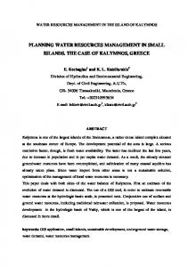 planning water resources management in small