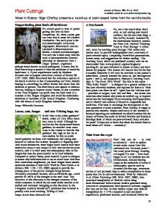 Plant Cuttings - Oxford Journals