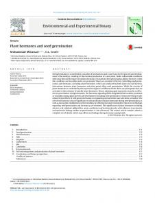 Plant hormones and seed germination