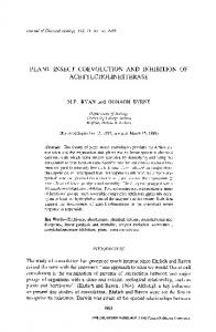 Plant-insect coevolution and inhibition of acetylcholinesterase ...