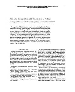 Plant Litter Decomposition and Nutrient Release in ... - RERO DOC