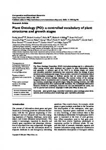 Plant Ontology (PO): a controlled vocabulary of plant structures ... - Core