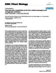 Plant phenolic metabolites as the free radical scavengers and ...