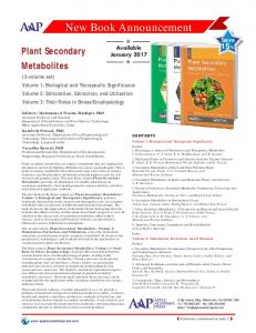 Plant Secondary and Metabolites