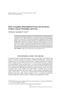Plant Uncoupling Mitochondrial Protein and Alternative ... - Springer Link