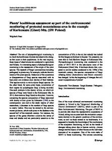 Plants' healthiness assessment as part of the