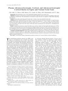 Plasma Adrenocorticotropin, Cortisol, and ... - Wiley Online Library