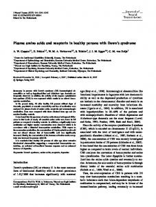Plasma amino acids and neopterin in healthy persons ... - Springer Link