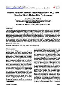 Plasma-Assisted Chemical Vapor Deposition of TiO2 Thin Films for ...