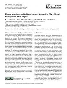 Plasma boundary variability at Mars as observed by Mars Global ...