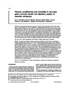 Plasma constituents and mortality in rat pups given ... - Wabash College