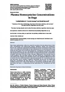 Plasma Homocysteine Concentrations in Dogs - IBIMA Publishing