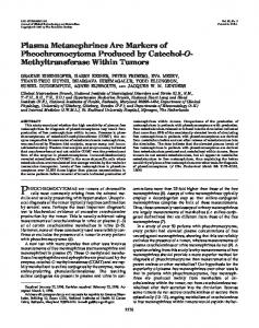 Plasma Metanephrines Are Markers of Pheochromocytoma Produced ...