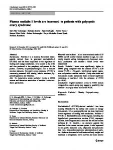 Plasma nesfatin-1 levels are increased in patients with polycystic ...