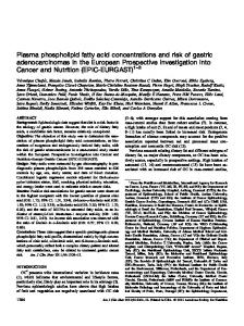 Plasma phospholipid fatty acid concentrations and ...