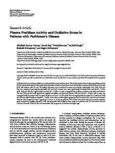 Plasma Prolidase Activity and Oxidative Stress in Patients with