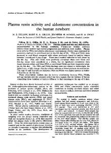 Plasma renin activity and aldosterone concentration in ... - Europe PMC