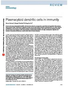 Plasmacytoid dendritic cells in immunity - Dendritics