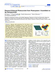 Plasmon-Enhanced Photocurrent from ... - ACS Publications