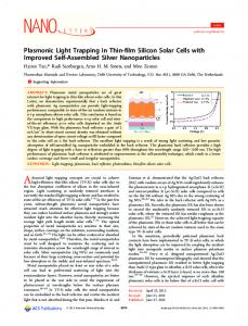 Plasmonic Light Trapping in Thin-film Silicon Solar Cells with ...