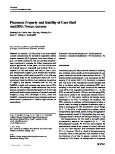 Plasmonic Property and Stability of Core-Shell Au