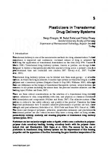 Plasticizers in Transdermal Drug Delivery Systems - InTechOpen