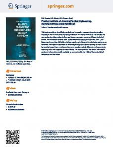 Plastics Institute of America Plastics Engineering ... - Springer