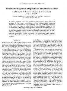 Platelet-activating factor antagonists and implantation ... - Reproduction
