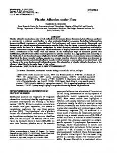 Platelet Adhesion under Flow - Wiley Online Library