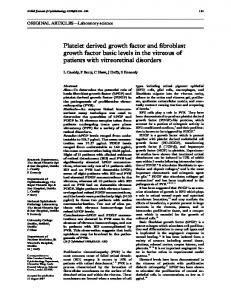 Platelet derived growth factor and fibroblast growth ... - Europe PMC