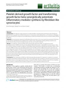Platelet-derived growth factor and transforming growth factor beta