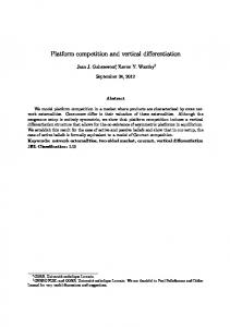 Platform competition and vertical differentiation - Centres FUSL