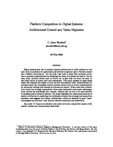 Platform Competition in Digital Systems: Architectural ... - CiteSeerX