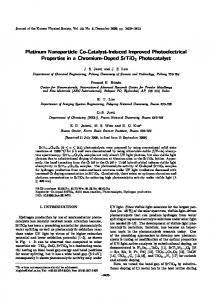 Platinum Nanoparticle Co-Catalyst-Induced Improved