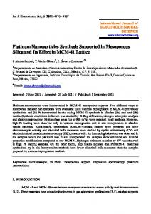 Platinum Nanoparticles Synthesis Supported in Mesoporous Silica ...