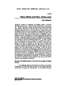 Plato: White and Non-white Love