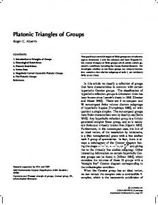 Platonic Triangles of Groups - Project Euclid