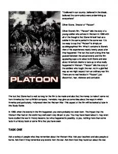 Platoon - Film Education