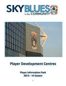 Player Information Pack 2013
