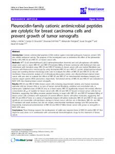 Pleurocidin-family cationic antimicrobial peptides are ... - Springer Link