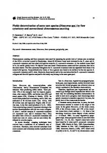 Ploidy determination of some yam species (Dioscorea ... - Springer Link