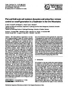 Plot and field scale soil moisture dynamics and subsurface wetness ...