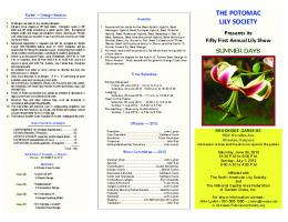 PLS Show Schedule 2012 - Potomac Lily Society